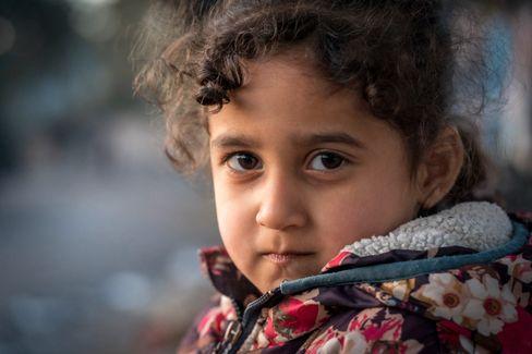 Flüchtlingskind Saraya