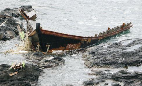 Wrack vor Japans Küste